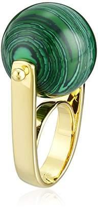 Noir Sphere Semi Precious Malachite Rollerball Ring