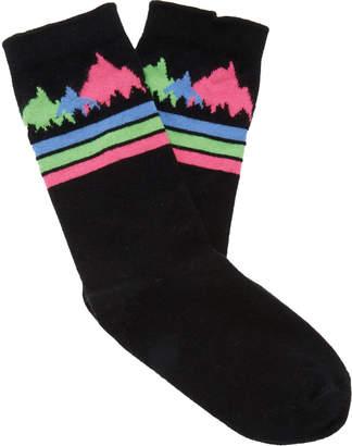 The Elder Statesman Patterned Intarsia Knit Cashmere Socks
