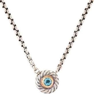 David Yurman Topaz Cookie Pendant Necklace