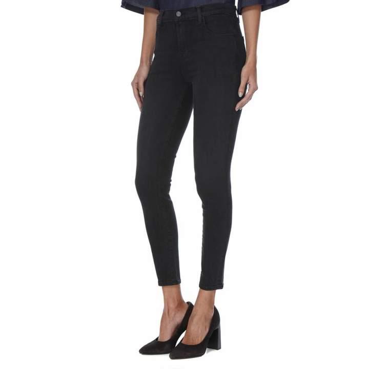 Vivid Blue Coated Alana Skinny Stretch Jeans