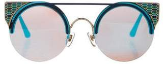Bvlgari Serpenti Cat-Eye Mirrored Sunglasses