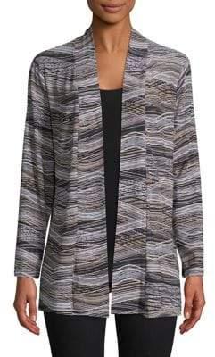 Kasper Suits Long-Sleeve Jersey Cardigan