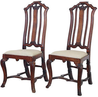 One Kings Lane Vintage 18th-C. Anglo-Dutch Walnut Chairs - Set of 2 - Faded Rose Antiques LLC