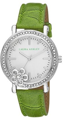 Laura Ashley Women's LA31013GR Analog Display Japanese Quartz Green Watch $42.39 thestylecure.com