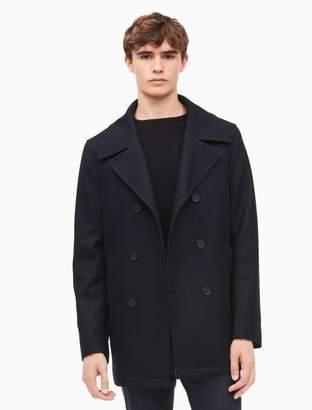 Calvin Klein wool blend navy peacoat