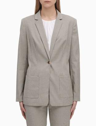 Calvin Klein Birdseye 1-Button Notch Lapel Jacket