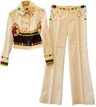 Oleg Cassini Multicolour Cotton Jumpsuit for Women Vintage