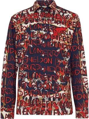 Burberry Graffiti Archive Scarf Print Cotton Shirt