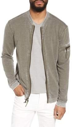 John Varvatos Burnout French Terry Zip Sweater