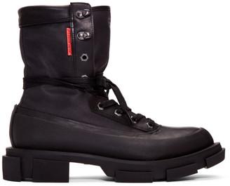 Both both Black Gao High Boots