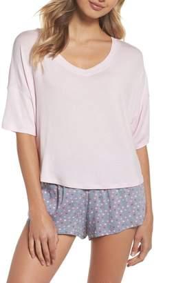 Honeydew Intimates Rayon Tee & Woven Short Pajama Set