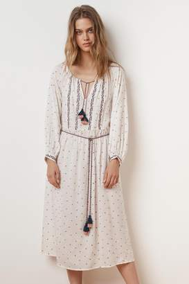 Velvet by Graham & Spencer ISILDA FLORAL EMBROIDERED BELTED DRESS