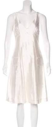 Narciso Rodriguez Sleeveless Silk Midi Dress