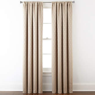STUDIO BY JCP HOME StudioTM Luna Rod-Pocket Blackout-Lined Curtain Panel