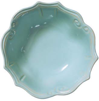 Vietri Incanto Stone Baroque Medium Serving Bowl, Aqua