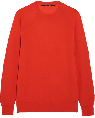 Proenza Schouler - Merino Wool Sweater - Red $500 thestylecure.com