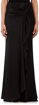 Alberta Ferretti Women's Silk Satin Sarong-Draped Skirt