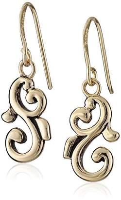 Barse Bronze Swirl Drop Earrings