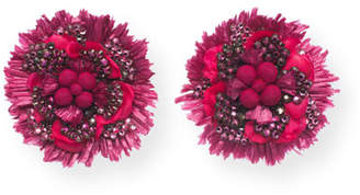 Ranjana Khan Carnation Statement Clip-On Earrings