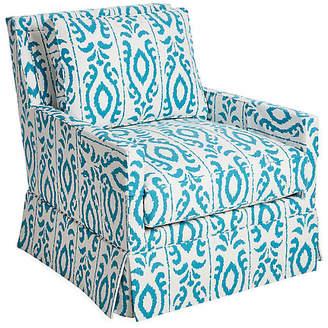 Dana Gibson Lilla Swivel Glider Chair - Turquoise