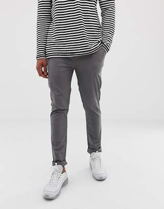 Asos Design DESIGN skinny chinos in grey