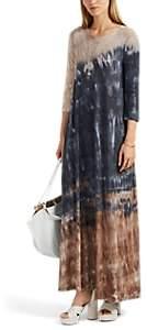 Raquel Allegra Women's Tie-Dyed Cotton-Blend Jersey Maxi Dress