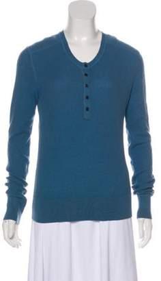 Burberry Cashmere-Blend Top Blue Cashmere-Blend Top