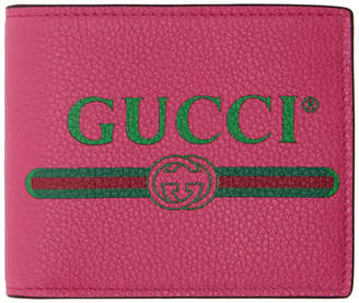 Gucci Pink Logo Bifold Wallet