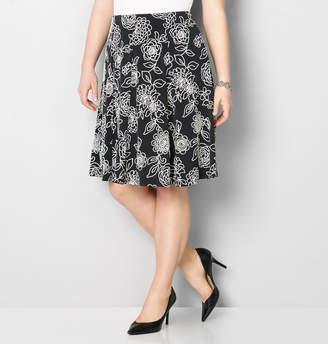 Avenue Floral Puff Print Skirt