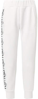 Fendi Roma Printed Scuba Track Pants - White
