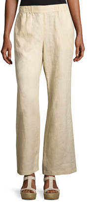 Go Silk Linen Wide-Leg Pants, Plus Size
