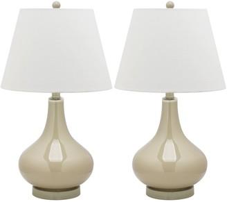 Safavieh Amy Gourd 2-pc. Glass Table Lamp Set