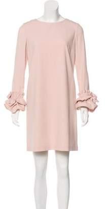 Paule Ka Bow-Accented Mini Dress
