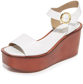 Michael Kors Collection Bridgette Flatform Sandals $450 thestylecure.com