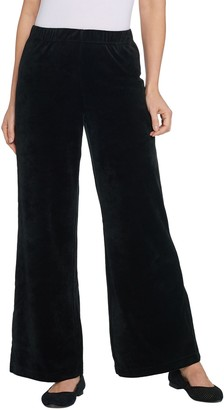 Factory Quacker Regular Pull-On Wide Leg Velour Pants