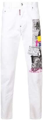 DSQUARED2 printed slim jeans