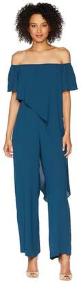 Adrianna Papell Off the Shoulder Draped Jumpsuit Women's Jumpsuit & Rompers One Piece