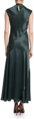 Neiman Marcus Olivier Theyskens Tie-Front Silk Bias Gown