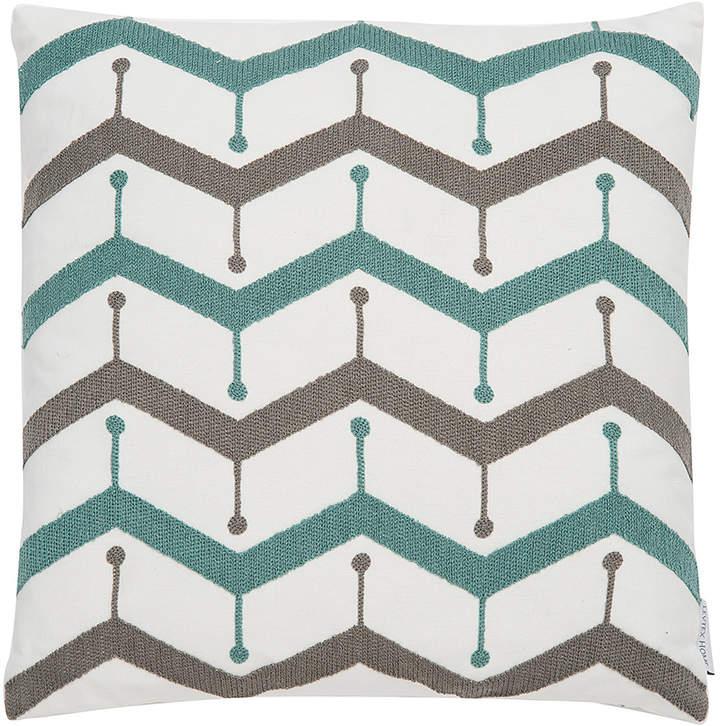 Chevron Embroidered Throw Pillow