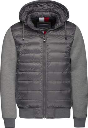 Tommy Hilfiger Men's Gaige Mix Down Bomber Jacket