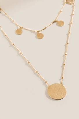francesca's Jamie Layered Coin Necklace - Gold