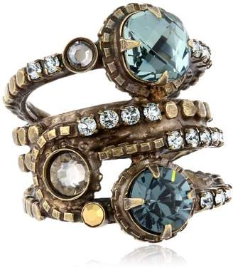 "Sorrelli After Glow"" Stacked Crystal Ring"
