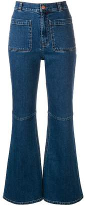 See by Chloe flared high rise jeans