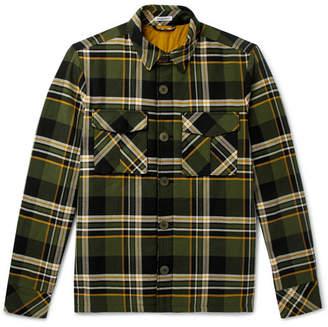 Tomas Maier Checked Cotton Overshirt