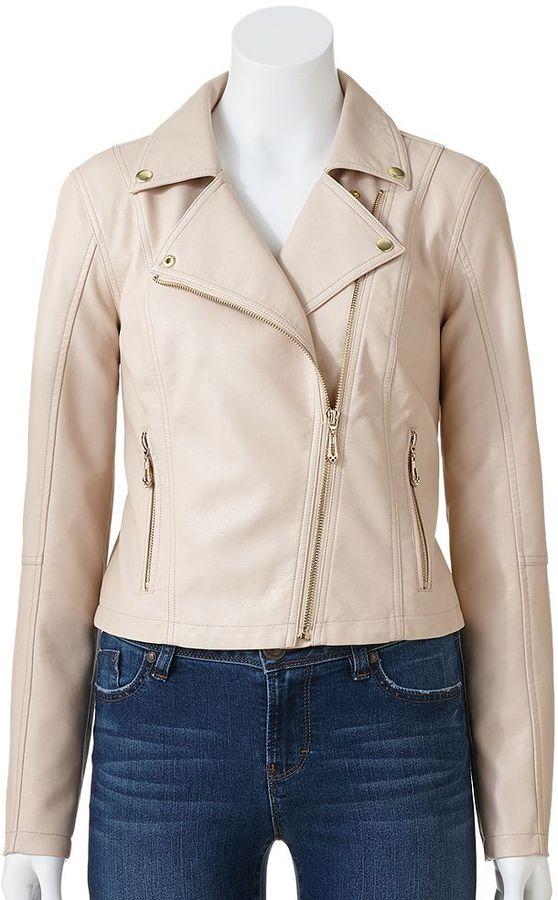 JLO by Jennifer Lopez faux-leather motorcycle jacket - women's