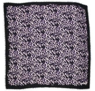 Balenciaga Batik Wool-Blend Scarf