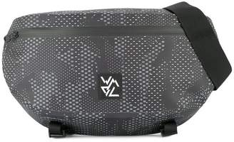 White Mountaineering camouflage print crossbody backpack