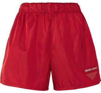 Prada Appliquéd Shell Shorts - Red