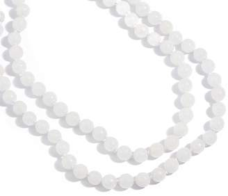 "Dee Berkley 50"" White Quartzite Bead Necklace"