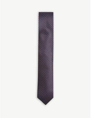 Corneliani Geometric print silk tie